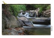 Water Stream On The River With Small Waterfalls Carry-all Pouch