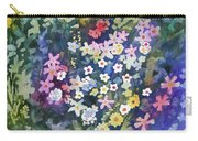 Watercolor - Alpine Wildflower Design Carry-all Pouch