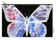 Watercolor Butterfly On Black V Carry-all Pouch