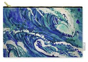 Watercolor - Ocean Wave Design Carry-all Pouch