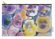 Watercolor - Pansy Design Carry-all Pouch