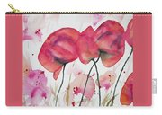 Watercolor - Poppy Portrait Carry-all Pouch