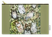 Watercolor - Screech Owl And Forest Design Carry-all Pouch