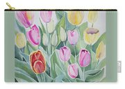 Watercolor - Spring Tulips Carry-all Pouch