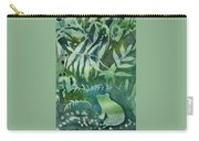 Watercolor - Tree Frog Design Carry-all Pouch by Cascade Colors