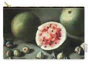 Watermelons And Figs On A Stone Ledge  Carry-all Pouch