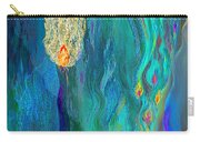 Watery Abstract Xviii - Women And Candles Carry-all Pouch