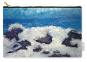 Wave Over Rocks Carry-all Pouch