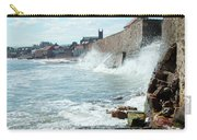 Waves Crashing Against Sea Wall Carry-all Pouch