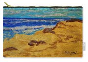 Waves On A Rocky Beach Carry-all Pouch