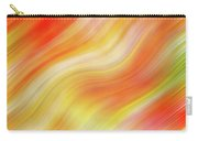 Wavy Colorful Abstract #5 - Yellow Orange Carry-all Pouch by Patti Deters