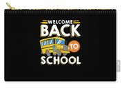 Welcome Back To School Kids School Bus Carry-all Pouch