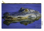 Wetlands Gator Close-up Carry-all Pouch by Tom Claud