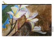 White Flower With Abstract Background Carry-all Pouch