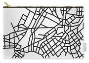 White Map Of Athens Carry-all Pouch