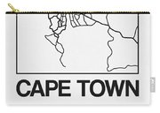 White Map Of Cape Town Carry-all Pouch