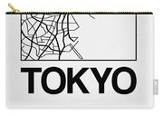 White Map Of Tokyo Carry-all Pouch
