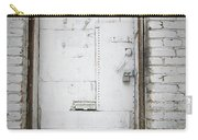 White Steel Factory Door Chinatown Washington Dc Carry-all Pouch by Edward Fielding