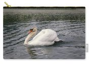 White Swan On Lake Carry-all Pouch
