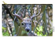 White Tailed Buck Portrait Carry-all Pouch