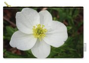 White Wood Anemone Carry-all Pouch