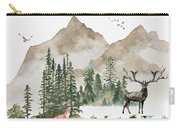 Wild Alaska Travel Poster Carry-all Pouch by Celestial Images