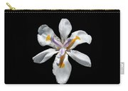 Wild Iris On Black  Carry-all Pouch by Alison Frank