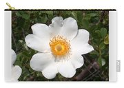Wild Texas Rose, White Carry-all Pouch