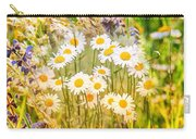 Wild White Daisies Carry-all Pouch