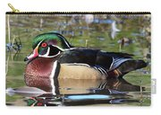 Wild Wood Duck On The Old Mill Pond  Carry-all Pouch