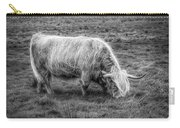 Windblown In Scotland Black And White Carry-all Pouch