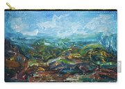Windy Day In The Grassland. Original Oil Painting Impressionist Landscape. Carry-all Pouch