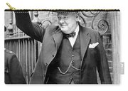 Winston Churchill Showing The V Sign Carry-all Pouch
