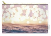 Winter Background With Snow And Fairy Lights. Carry-all Pouch