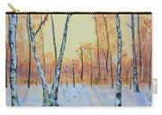 Winter Birches-cardinal Left Carry-all Pouch