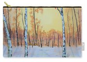 Winter Birches-cardinal Right Carry-all Pouch