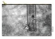 Winter Blessing Chickadee Carry-all Pouch