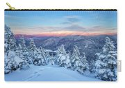 Winter Light, Mountain Views Carry-all Pouch by Jeff Sinon