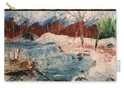 Winter Stream Carry-all Pouch by Denise Tomasura