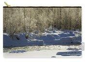 Winter Stream Near Hope On The Kenai Peninsula Alaska Carry-all Pouch