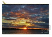 Winter Sunset Over Grand Island Carry-all Pouch