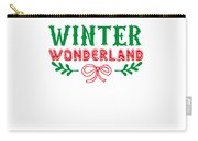 Winter Wonderland Christmas Secret Santa Snowing On Christmas Carry-all Pouch
