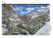 Winter Wonderland Snowdonia Carry-all Pouch by Adrian Evans