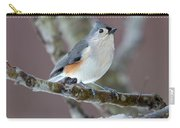 Wintry Virginia Titmouse Carry-all Pouch