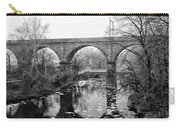 Wissahickon Creek - Reading Viaduct In Black And White Carry-all Pouch