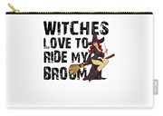 Witch Broom Funny Pun Naughty Halloween For Men Light Carry-all Pouch