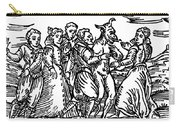 Witches Dancing With The Devil, Illustration From Compendium Maleficarum Carry-all Pouch