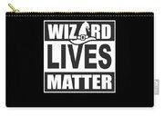 Wizard Lives Matter Retro Halloween Sorcerer Dark Carry-all Pouch