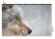 Wolf In The Snowstorm - Painting Carry-all Pouch