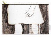 Woman With A Wooden Leg Drawing Carry-all Pouch